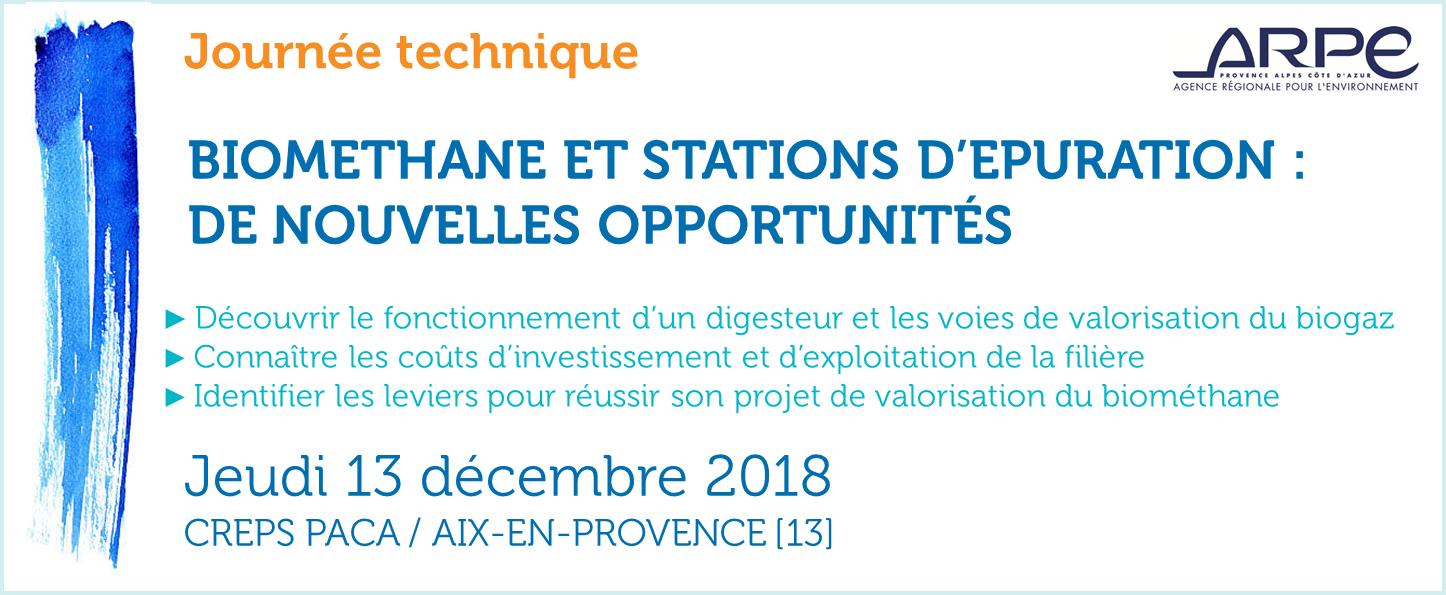 Journée ARPE - Biométhane et stations d'épuration 2018
