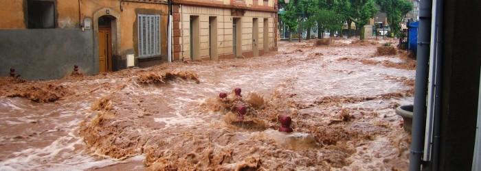 Inondation aux Arcs, dans le Var, le 15 Juin 2010 - Copyright : E. SERRIERE