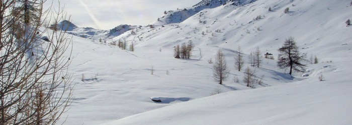Vallée de la Clarée enneigée ©ARPE PACA