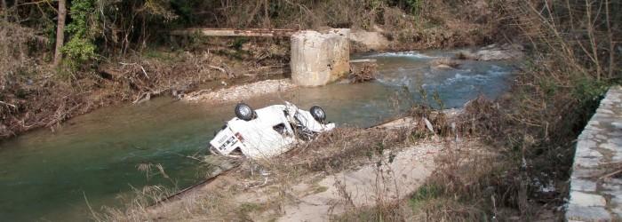 L'eau salée post inondation - Copyright : ARPE PACA