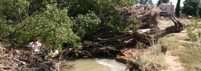 La Nartuby après l'inondation de Juin 2010 - Copyright : ARPE PACA