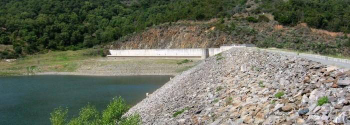 Aménagement hydraulique : barrage de la Verne - Copyright : ARPE PACA