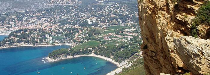 Cassis vue depuis le Cap Canaille - Copyright : ARPE PACA
