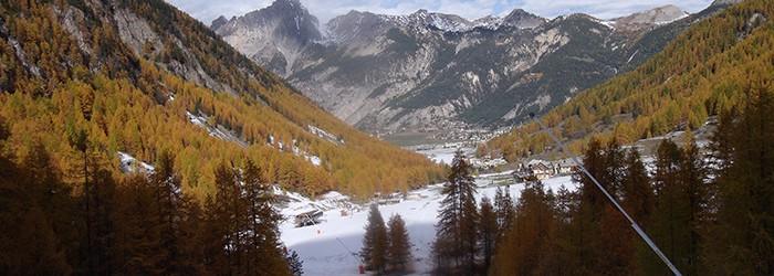 Pistes de ski et canons à neige, Ceillac (05) ©D.GATANIOU/ARPE